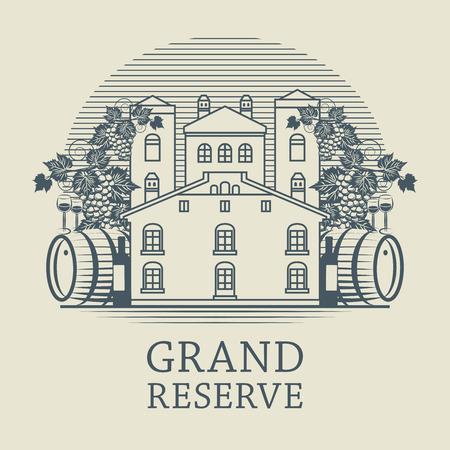 Vintage wine label, vector illustration Vector