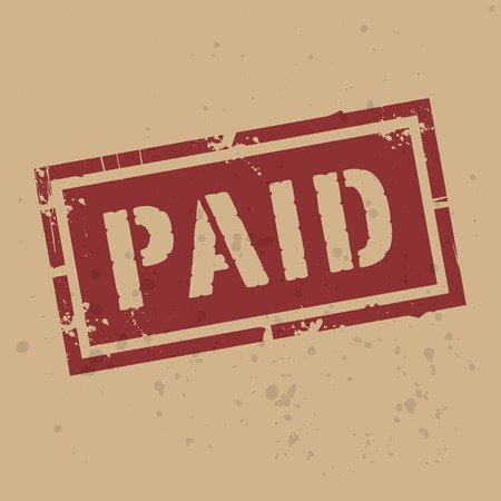 paid: Abstract stamp or label with text Paid, vector illustration