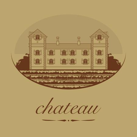 Vintage wine label, vector illustration