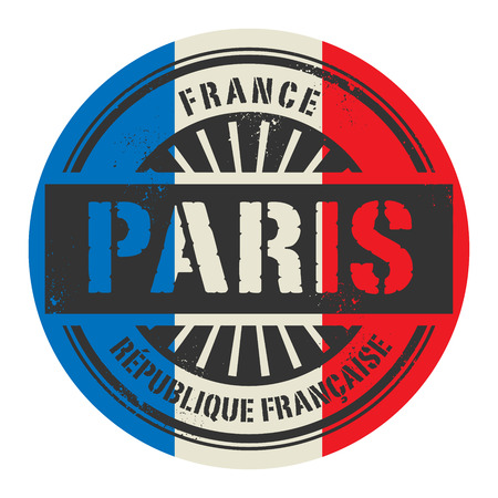 france stamp: Grunge rubber stamp with the text France, Paris, vector illustration