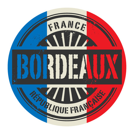 identifier: Grunge rubber stamp with the text France, Bordeaux, vector illustration Illustration