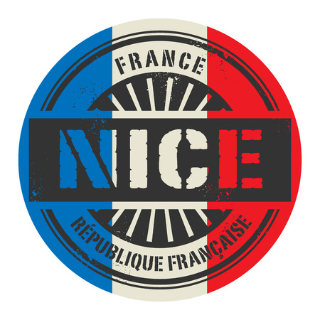 france stamp: Grunge rubber stamp with the text France, Nice, vector illustration