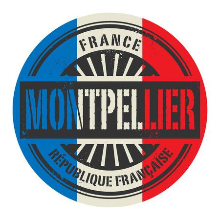 france stamp: Grunge rubber stamp with the text France, Montpellier, vector illustration Illustration