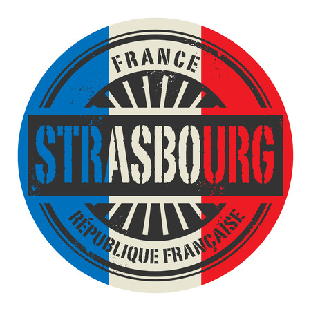 strasbourg: Grunge rubber stamp with the text France, Strasbourg, vector illustration