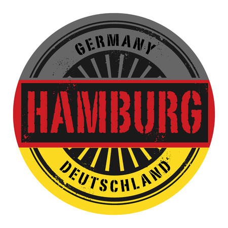 Grunge rubber stamp with the text Germany, Hamburg, vector illustration Vector