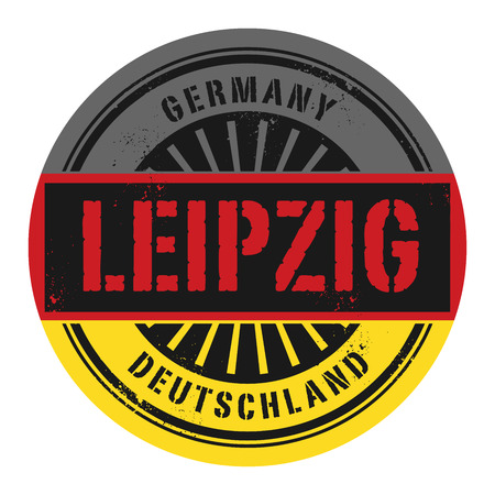 identifier: Grunge rubber stamp with the text Germany, Leipzig, vector illustration Illustration