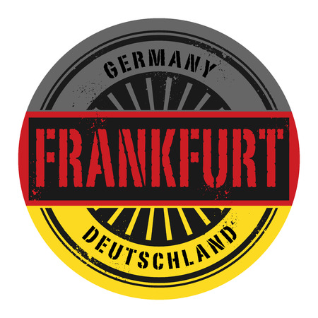frankfurt: Grunge rubber stamp with the text Germany, Frankfurt, vector illustration Illustration
