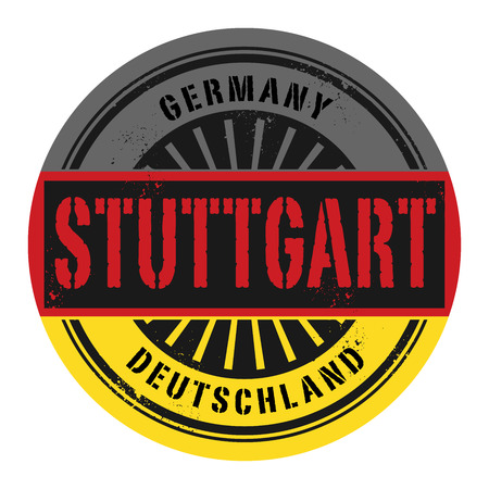 stuttgart: Grunge rubber stamp with the text Germany, Stuttgart, vector illustration Illustration