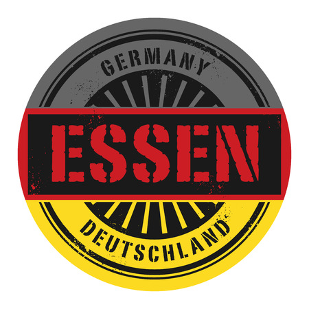 identifier: Grunge rubber stamp with the text Germany, Essen, vector illustration
