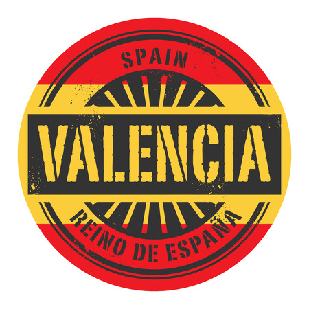 valencia: Grunge rubber stamp with the text Spain, Valencia, vector illustration