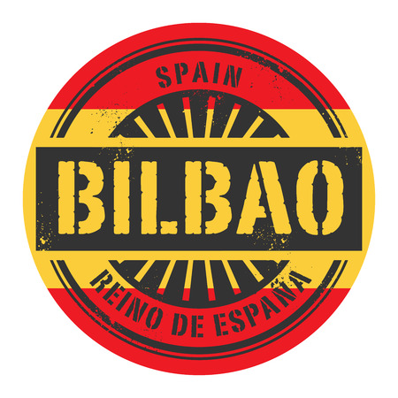 bilbao: Grunge rubber stamp with the text Spain, Bilbao, vector illustration