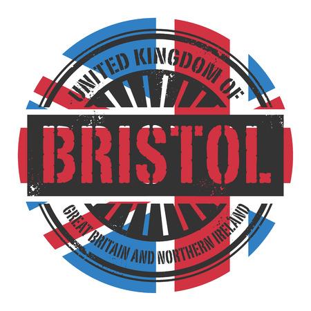 bristol: Grunge rubber stamp with the text United Kingdom, Bristol, vector illustration