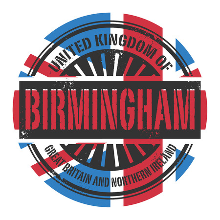 birmingham: Grunge rubber stamp with the text United Kingdom, Birmingham, vector illustration