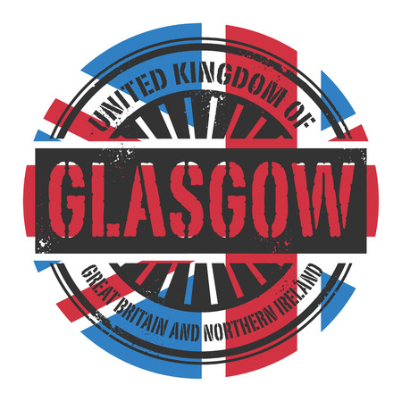 glasgow: Grunge rubber stamp with the text United Kingdom, Glasgow, vector illustration
