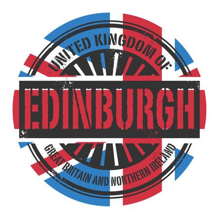 edinburgh: Grunge Stempel mit dem Text Gro�britannien, Edinburgh, Vektor-Illustration
