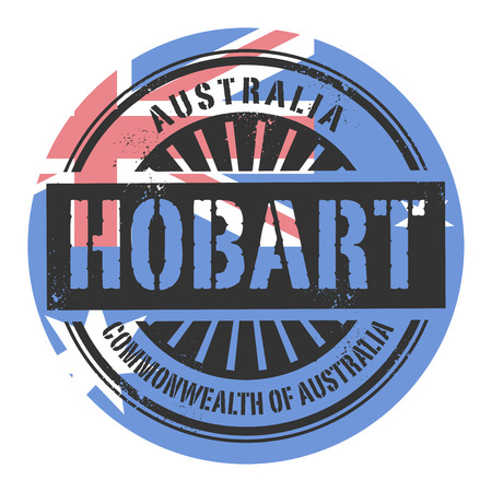 identifier: Grunge rubber stamp with the text Australia, Hobart, vector illustration Illustration