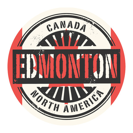edmonton: Grunge rubber stamp with the text Canada, Edmonton, vector illustration