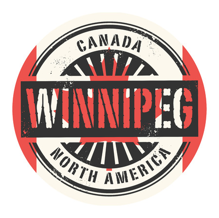 winnipeg: Grunge rubber stamp with the text Canada, Winnipeg, vector illustration Illustration