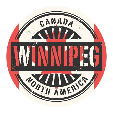 winnipeg: Grunge rubber stamp with the text Canada, Winnipeg, vector illustration Illustration