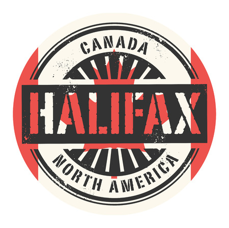 canada stamp: Grunge rubber stamp with the text Canada, Halifax, vector illustration Illustration