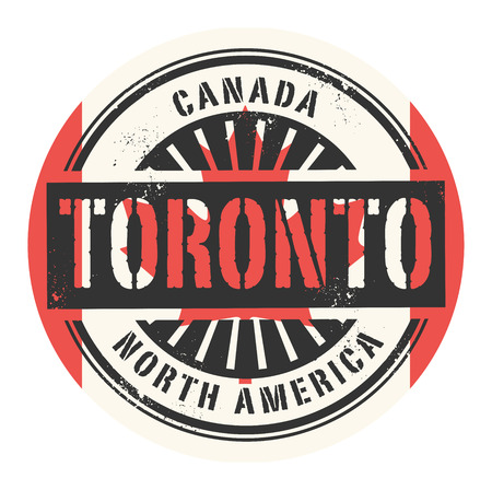 canada stamp: Grunge rubber stamp with the text Canada, Toronto, vector illustration