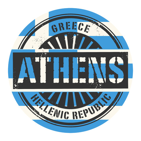 Grunge rubber stamp with the text Greece, Athens, vector illustration Vector