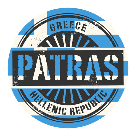 Grunge rubber stamp with the text Greece, Patras, vector illustration Vector