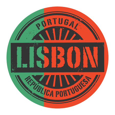 identifier: Grunge rubber stamp with the text Portugal, Portuguese Republic, Lisbon, vector illustration