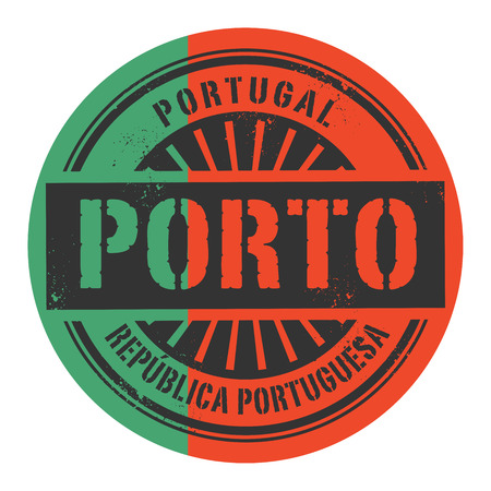 portugese: Grunge rubber stamp with the text Portugal, Portuguese Republic, Porto, vector illustration