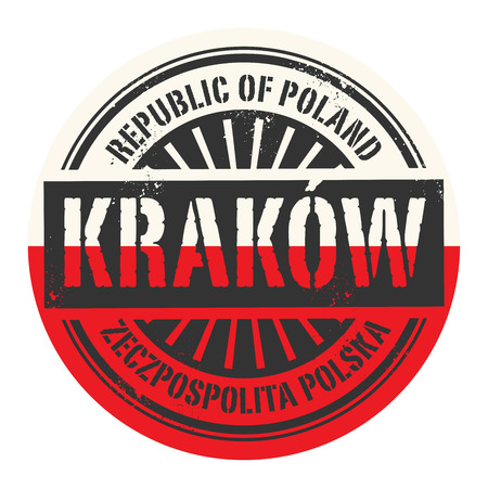 krakow: Grunge rubber stamp with the text Republic of Poland, Krakow, vector illustration