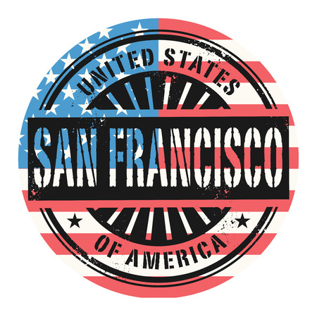 francisco: Grunge rubber stamp with the text United States of America, San Francisco, vector illustration