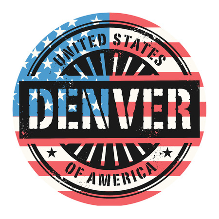 Grunge rubber stamp with the text United States of America, Denver, vector illustration Vector