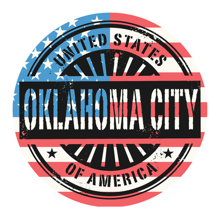 oklahoma: Grunge rubber stamp with the text United States of America, Oklahoma City, vector illustration