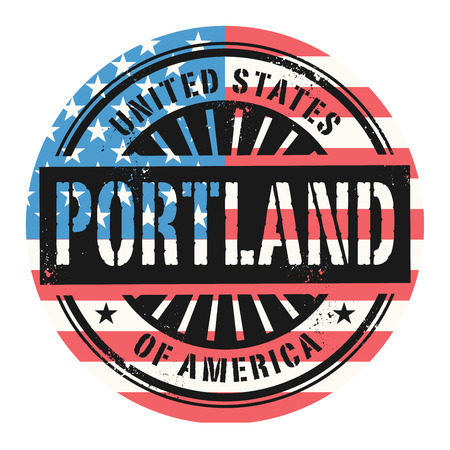 Grunge rubber stamp with the text United States of America, Portland, vector illustration Vector