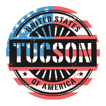 tuscon: Grunge rubber stamp with the text United States of America, Tuscon, vector illustration