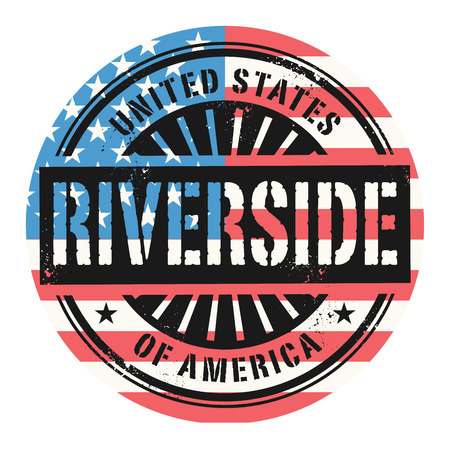 Grunge Rubber Stamp With The Text United States Of America Riverside Vector Illustration Stock