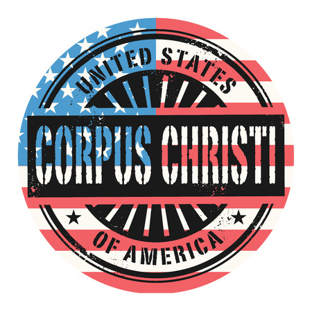 corpus: Grunge rubber stamp with the text United States of America, Corpus Cristi, vector illustration Illustration