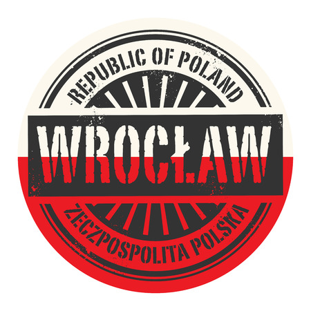 wroclaw: Grunge rubber stamp with the text Republic of Poland, Wroclaw, vector illustration