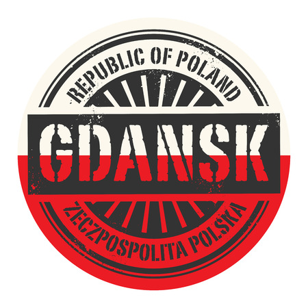 gdansk: Grunge rubber stamp with the text Republic of Poland, Gdansk, vector illustration