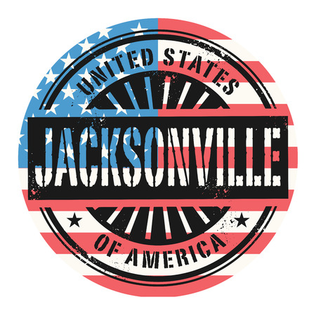 jacksonville: Grunge rubber stamp with the text United States of America, Jacksonville, vector illustration Illustration