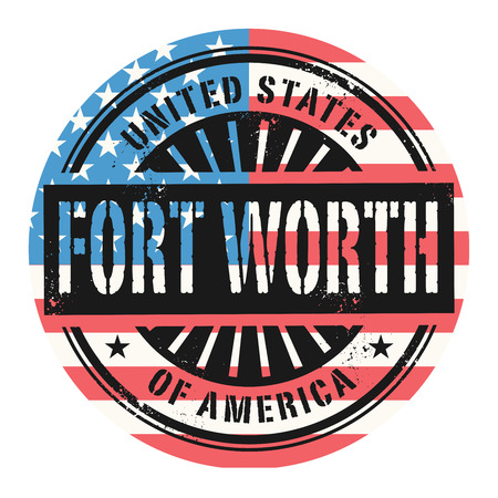 worth: Grunge rubber stamp with the text United States of America, Fort Worth, vector illustration