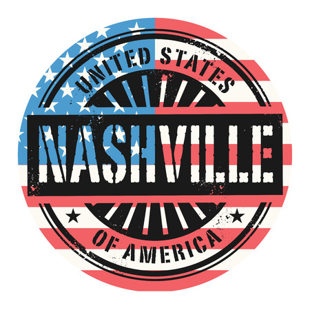 nashville: Grunge rubber stamp with the text United States of America, Nashville, vector illustration