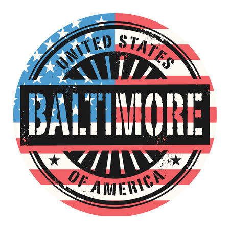 baltimore: Grunge rubber stamp with the text United States of America, Baltimore, vector illustration Illustration