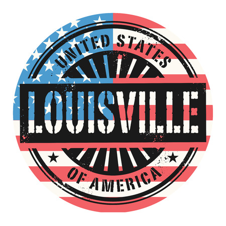 louisville: Grunge rubber stamp with the text United States of America, Louisville, vector illustration Illustration
