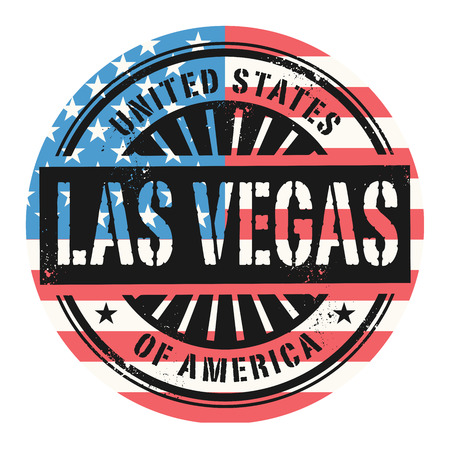 las vegas city: Grunge rubber stamp with the text United States of America, Las Vegas, vector illustration Illustration