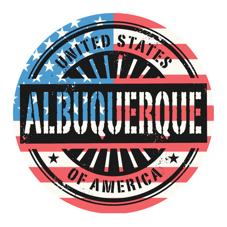 albuquerque: Grunge rubber stamp with the text United States of America, Albuquerque, vector illustration