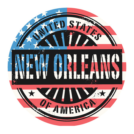 orleans: Grunge rubber stamp with the text United States of America, New Orleans, vector illustration