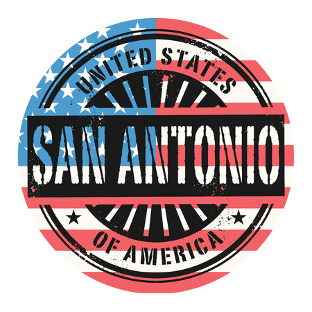 Grunge rubber stamp with the text United States of America, San Antonio, vector illustration Vector