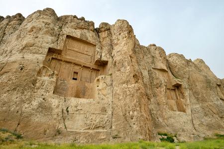 necropolis: Naqshe Rustam an ancient necropolis in Pars Province Iran. Editorial