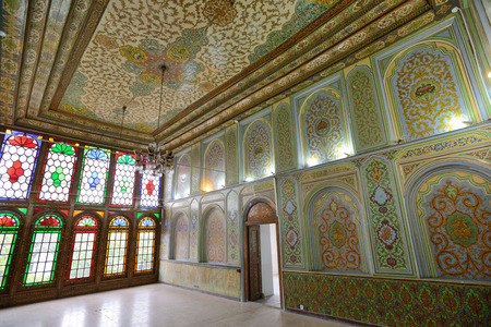 shiraz: SHIRAZ  APRIL 15: interior of Qavam House Narenjestan e Ghavam in Shiraz Iran on April 15 2015. Qavam House is a traditional and historical house in Shiraz Iran Editorial